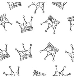 crown pattern style vector image vector image