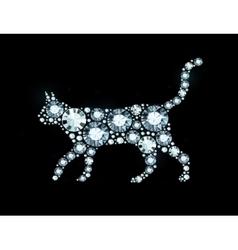 Diamond cat vector