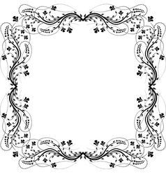 frame flowers vector image