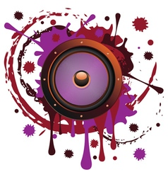 Grunge Audio Speaker5 vector image vector image