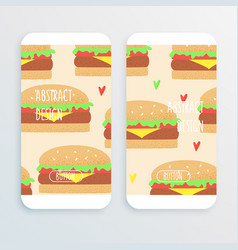 Hamburger retro concept vector