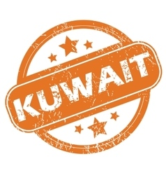 Kuwait round stamp vector