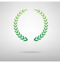 Laurel wreath green icon vector