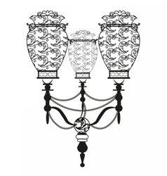 Luxurious wall lamp vector