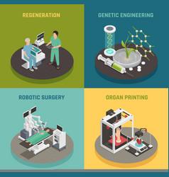 Medicine future technology concept vector