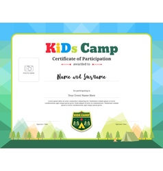 Modern certificate of participation for kids vector