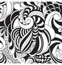 Monochrome floral pattern vector