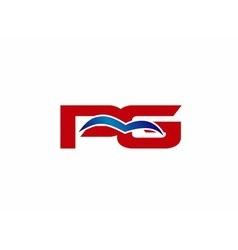 Pg letter logo vector