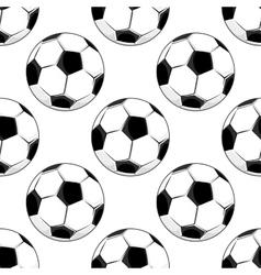 Seamless pattern of soccer balls vector