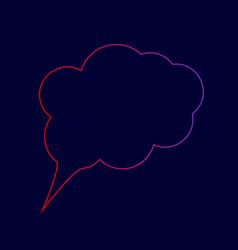 speach bubble sign line icon vector image vector image