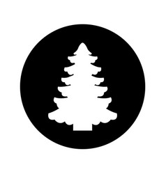 Tree pine christmas icon vector