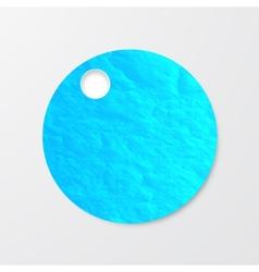 watercolor circle Vintage paper texture vector image