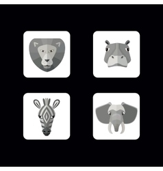 Wild animals icons format vector image vector image