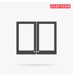 window simple flat icon vector image vector image