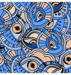 Blue eyes pattern vector