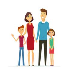 Family - coloured modern flat vector