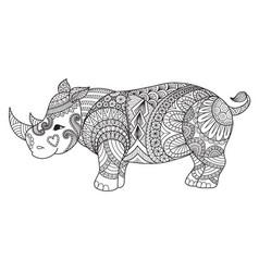 rhino2 vector image