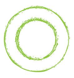 green circles grunge frame vector image