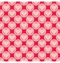 Pink and red seamless background with hearts vector