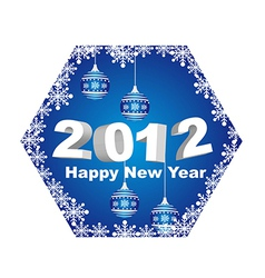 2012 happy new year with christmas balls isolated vector