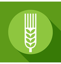 Wheat ear sign vector