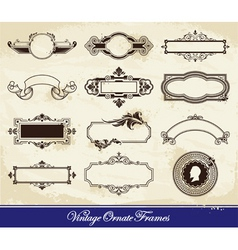 vector set of vintage frames vector image