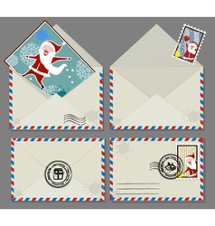 Xmas letters vector