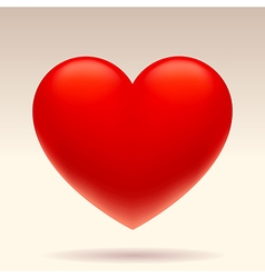 Three dimensional red heart vector image