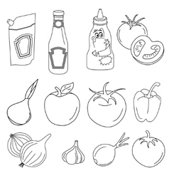 Freehand sketches vector