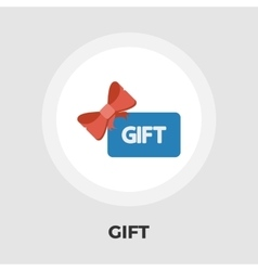 Gift card flat icon vector