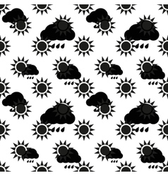 Abstract monochrome Sun Pattern vector image