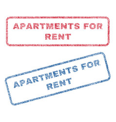 Apartments for rent textile stamps vector
