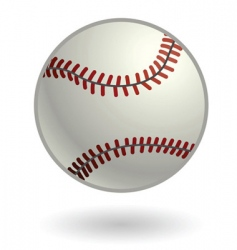 baseball illustration vector image