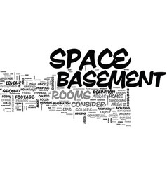 Basement ideas text word cloud concept vector