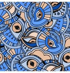 Blue eyes pattern vector image