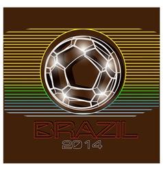 Brazil football 2014 vector image vector image
