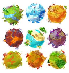 cartoon earth planets set vector image