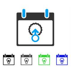 Cell penetration calendar day flat icon vector