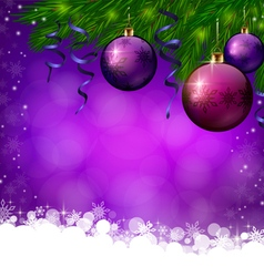 Christmas violete background vector image