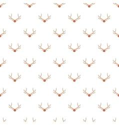 Deer antler pattern cartoon style vector