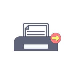 document next paper print printer icon vector image