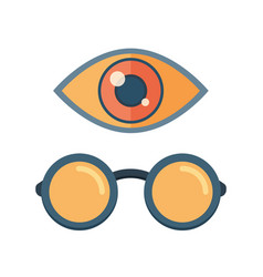 Fashion glasses and eye symbol vector