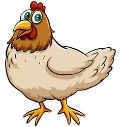 Fat spring chicken vector