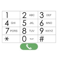 Flat keypad for phone vector