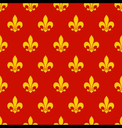 Fleur de lys Seamless Pattern vector image vector image