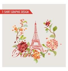 Floral paris graphic design - for t-shirt fashion vector
