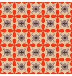 Flower orange seamless pattern vector image