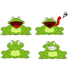 Funny frog cartoon vector image vector image