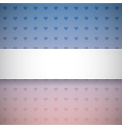 Gradient background with hearts vector image