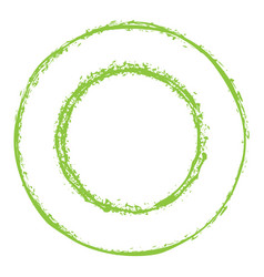 Green circles grunge frame vector
